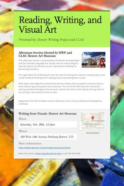 Reading, Writing, and Visual Art
