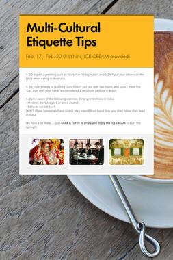 Multi-Cultural Etiquette Tips