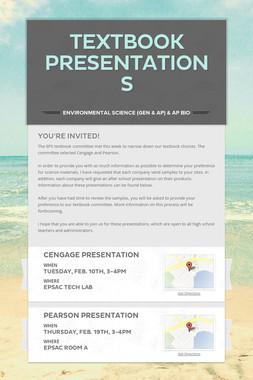 Textbook Presentations