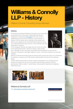 Williams & Connolly LLP - History