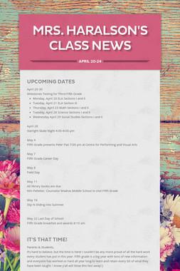 Mrs. Haralson's Class News