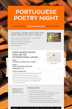 Portuguese Poetry Night