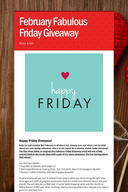 February Fabulous Friday Giveaway