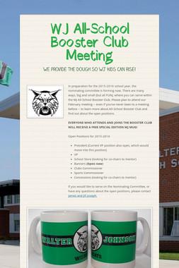 WJ All-School Booster Club Meeting