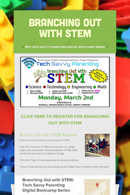 Branching Out with STEM
