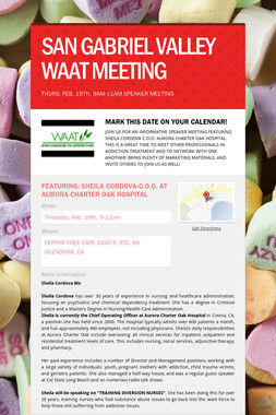 SAN GABRIEL VALLEY WAAT MEETING