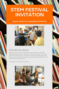 STEM Festival Invitation