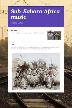 Sub-Sahara Africa music
