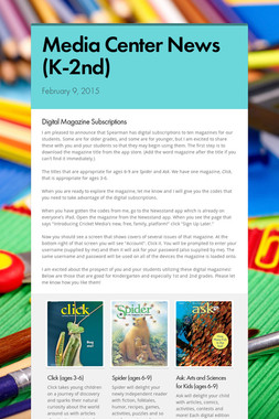 Media Center News (K-2nd)