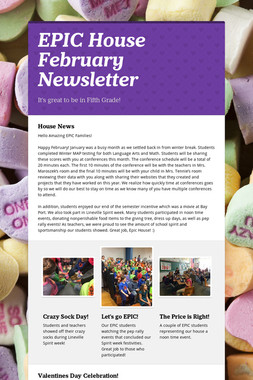 EPIC House February Newsletter