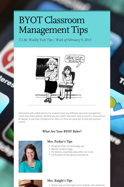 BYOT Classroom Management Tips