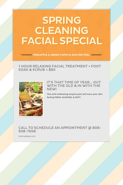 Spring Cleaning Facial Special