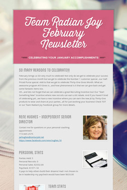 Team Radian Joy February Newsletter