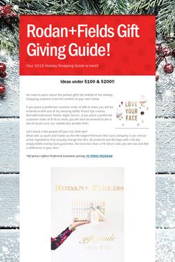 Rodan+Fields Gift Giving Guide!