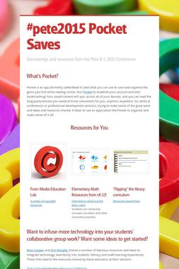 #pete2015 Pocket Saves