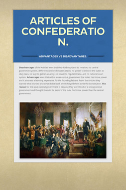 Articles of Confederation.