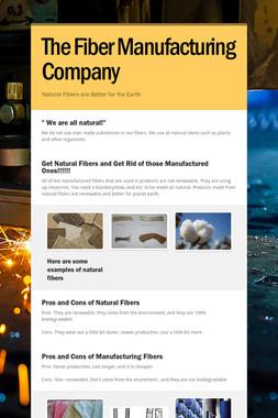 The Fiber Manufacturing Company
