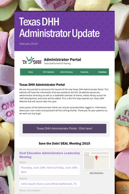 Texas DHH Administrator Update