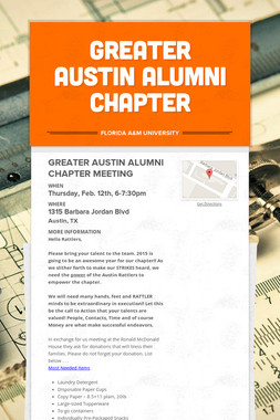 GREATER AUSTIN ALUMNI CHAPTER