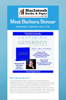 Meet Barbara Bonner