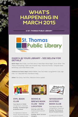 What's Happening in March 2015