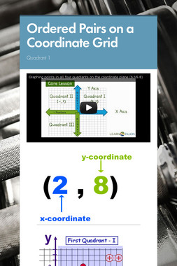 Ordered Pairs on a Coordinate Grid