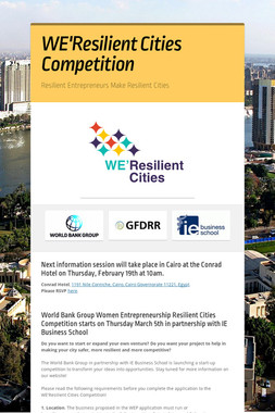 WE'Resilient Cities Competition