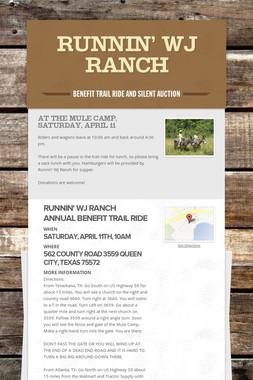 Runnin' WJ Ranch