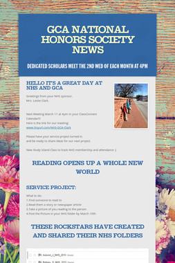GCA National Honors Society News