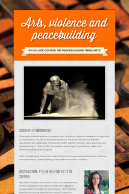 Arts, violence and peacebuilding