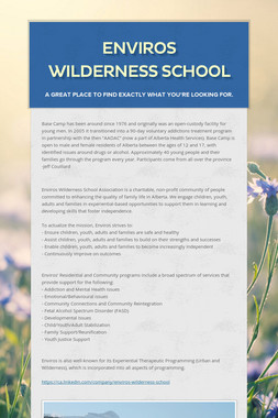 Enviros Wilderness School