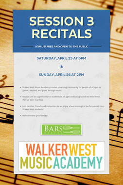 Session 3 Recitals