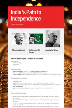 India's Path to Independence