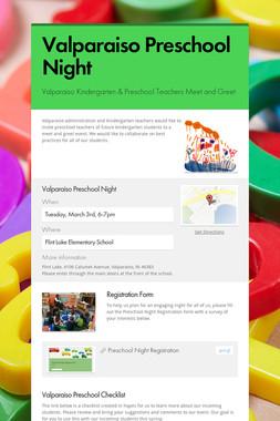 Valparaiso Preschool Night