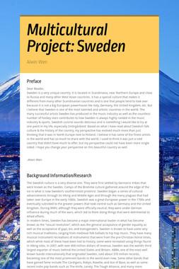 Multicultural Project: Sweden