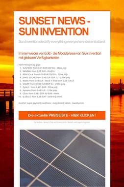 SUNSET NEWS - SUN INVENTION