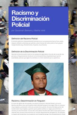 Racismo y Discriminación Policial