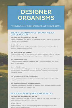 Designer Organisms