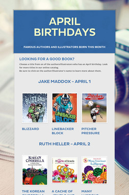 April Birthdays