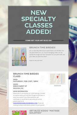 New Specialty Classes Added!