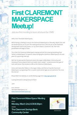 First CLAREMONT MAKERSPACE Meetup!