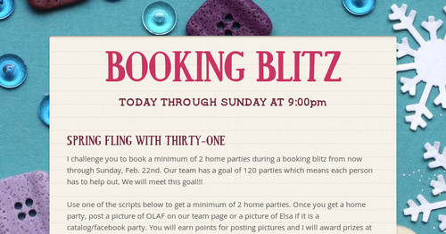 BOOKING BLITZ | Smore Newsletters