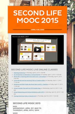 Second Life MOOC 2015