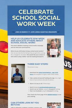 Celebrate School Social Work Week