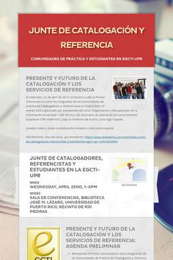 JUNTE DE CATALOGACIÓN Y REFERENCIA