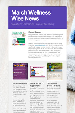 March Wellness Wise News
