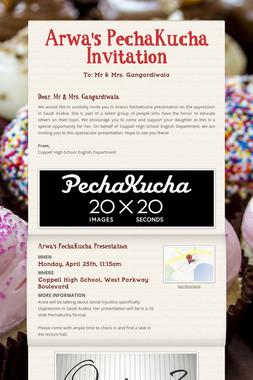 Arwa's PechaKucha Invitation