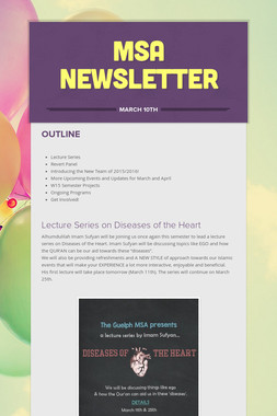MSA Newsletter