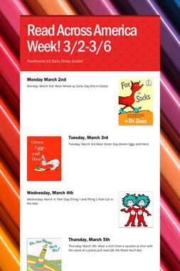 Read Across America Week! 3/2-3/6