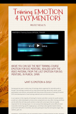 Training EMOTION 4 EVS MENTORS